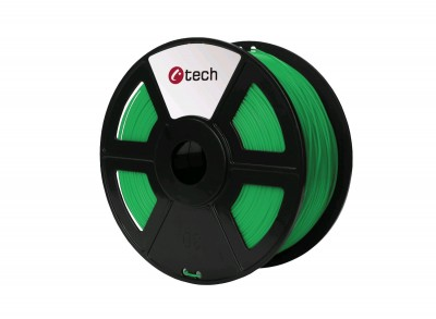 Tlačová struna C-TECH, PLA Green 1,75 mm 1kg