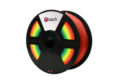 Tisková struna C-TECH, PLA Rainbow 1,75 mm 1kg