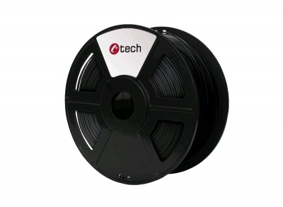 Tlačová struna C-TECH, PET-G Black 1,75 mm 1kg