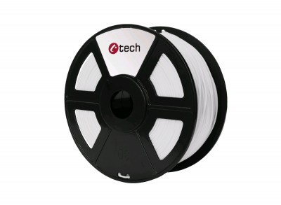Tlačová struna C-TECH, PET-G White 1,75 mm 1kg
