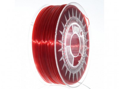 PETG Ruby Red Transparent 1,75 mm Devil Design 1kg